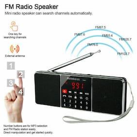 Portable Radio AM/FM Stereo Speaker Sleep Timer Bluetooth Bass Multimedia Gift
