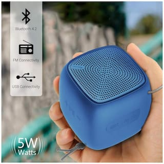 Portronics Bounce POR-952 Portable Bluetooth Speaker with FM (Blue)