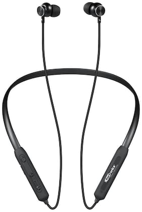 Portronics Harmonics 216 POR-279 Wireless Bluetooth 5.0 Sports Headset with High Bass, Powerful Audio Drivers and Noise Reduction (Black)
