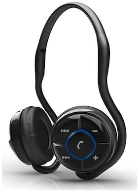 Portronics Muffs Wireless Over Ear Headset (Black)