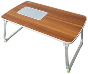 """Portronics Por-833 """"Mybuddy L"""" A Light Weight Strong And Foldable Laptop Cooling Table Cum Standing Office Desk (Brown)"""