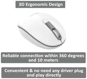 Portronics POR-016/ Toad 11 Wireless Mouse ( White & Grey )