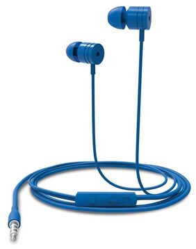 Portronics POR-767 Conch 204 (Blue) In-Ear Stereo Headphone having 3.5mm Aux port, In-Line high Quality mic, Soft silicon Ear-buds for great bass effect