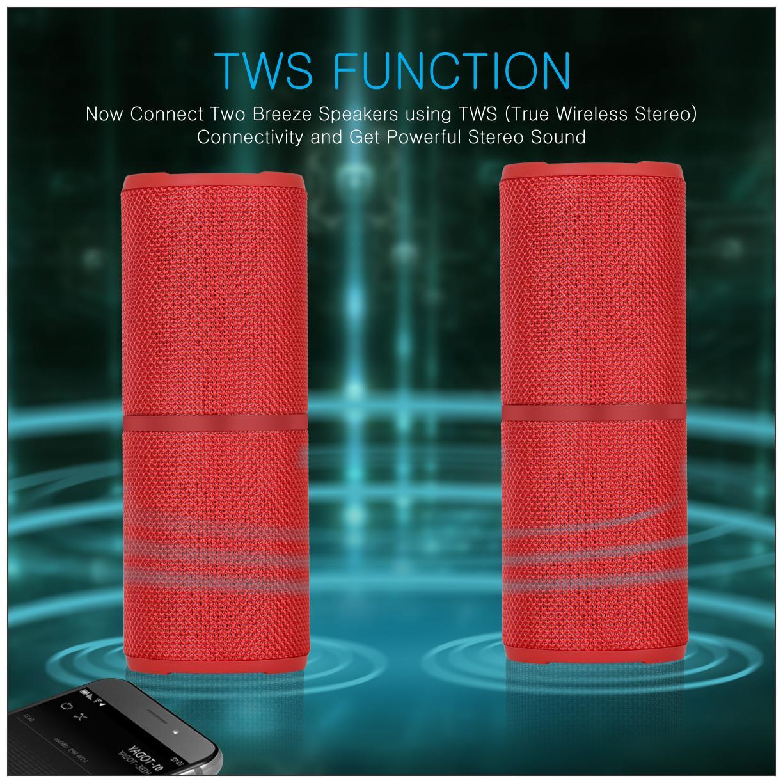 cce41571c48 Buy Portronics Breeze POR-887 Wireless Bluetooth Speaker (Red ...