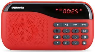 Portronics PLUGS POR-141 Portable Wired Speaker ( Red )