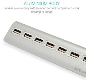 PORTRONICS POR-718 Mport USB 2.0 Aluminum HUB with 7 PORT
