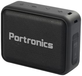 Portronics POR-394 DYNAMO Bluetooth 5.0 Portable Stereo Speaker with TWS, In Built-Mic, USB & FM Music and Clear & Relax Bass Sound 5W (Black)