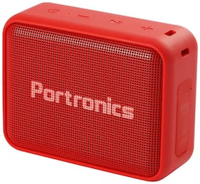 Portronics POR-738 DYNAMO Bluetooth 5.0 Portable Stereo Speaker with TWS, In Built-Mic, USB & FM Music and Clear & Relax Bass Sound 5W (Red)