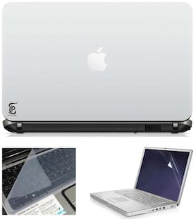 Print Shapes Cut Apple 3 In 1 Laptop Skin Pack With Screen Protector And Key Guard - 15.6 Inches