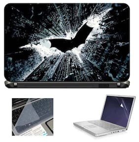 Print Shapes Broken Night 3 In 1 Laptop Skin With Screen Protector And Key Guard
