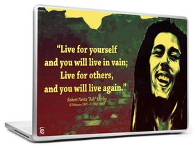 Print Shapes BOB MARLEY QUOTE  39.62 cm (15.6) Laptop Skin