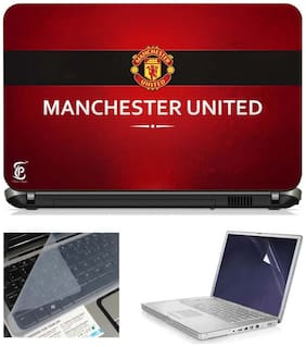 Print Shapes Manchester United 3 In 1 Laptop Skin Pack With Screen Protector And Key Guard - 15.6 Inches