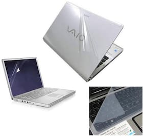 Print Shapes Transparent Laptop Skin With Screen Protector And Key Guard 3 In 1