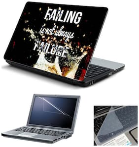 Print Shapes Failing is Not Failure Laptop Skin With Screen Protector And Key Guard