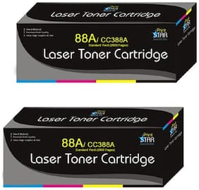 Print Star 88A Cartridge Pack of 2 Compatible For HP 88A / CC388A black toner cartridge