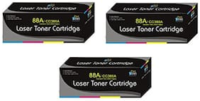 Print Star 88A Cartridge Pack of 3 Compatible For HP 88A / CC388A black toner cartridge