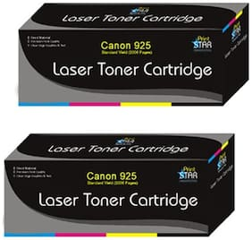 Print Star 925 Black Toner Cartridge Pack of 2/ Canon Laser Shot LBP6018B  Canon Image Clase MF3010