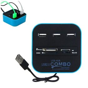 PROBEATZ All in One Multi-Card Reader with 3 Ports USB 2.0 HUB Combo for SD/MMC/MS/M2/Micro SD/TF USB HUB, Card Reader, HK
