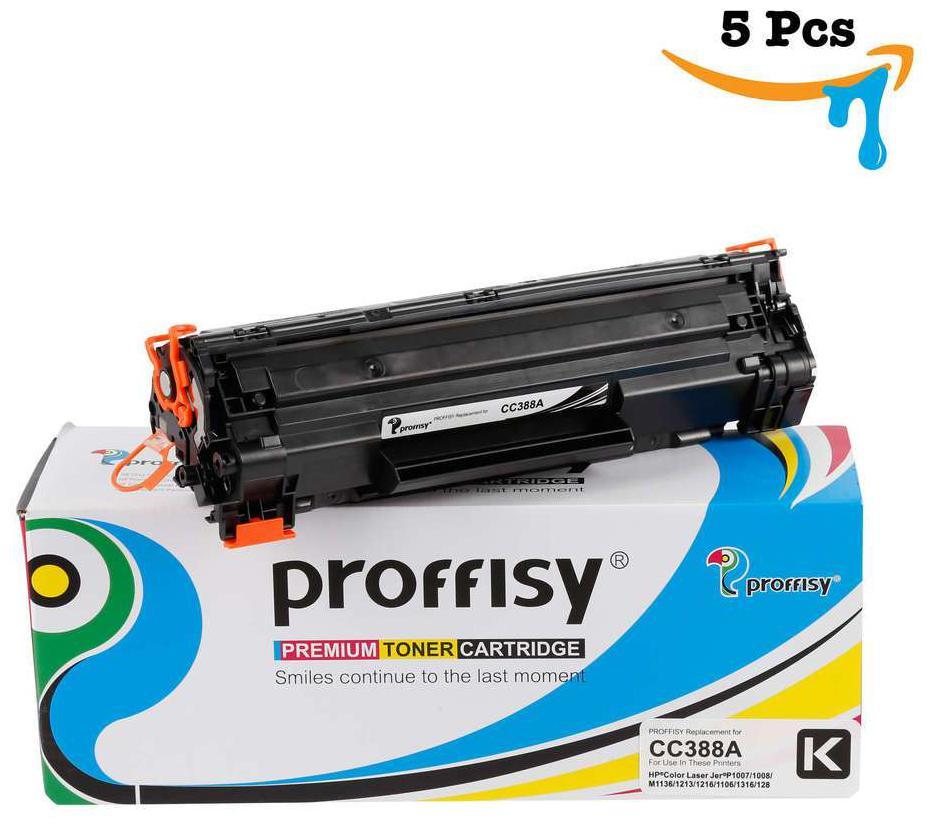 Proffisy 88A for HP CC388A Toner Cartridge Compatible HP Laser Printers P1007  P1106  P1108  P1008  M1213nf MFP  M1136 MFP    5 pcs