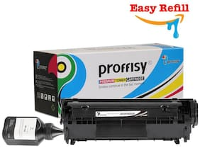 Proffisy Easy Refill 12A For HP Q2612A Toner Cartridge Compatible HP LaserJet 1010   1012   1015   1018   M1319F Mfp   Canon LBP 2900   3000 (Easy Refill)