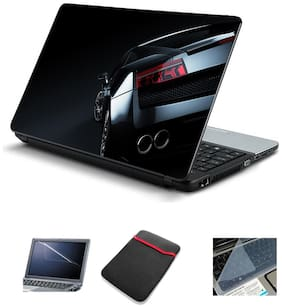 Psycho Art 15.6 inch Laptop Skin (Multi Color) with Sleeve/Screen Guard & Key Guard