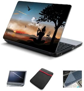 Psycho Art 4IN1 Laptop Accessories Combo-Laptop Skin 15.6 inch Sticker with Laptop Screen Protector and Laptop KeyGuard for All Laptop-Notebook HQS403