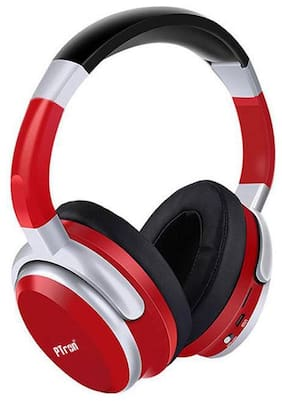 24192a7283f PTron Rodeo Bluetooth Headset Wireless Stereo Headphone With Mic For All  Smartphones (Red)