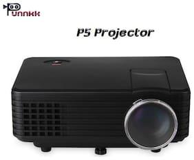 Punnkk P5 800 lumens LED Projector with HDMI/ AV/TV/ VGA /USB Black