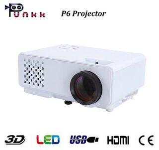 Punnkk P6 1000 Lumens LED Projector with HDMI,VGA,AV, USB White