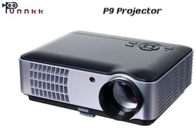 Punnkk P9 LED 2800 Lumens Portable Projector with AV/HDMI/USB/VGA ATV for Home Cinema
