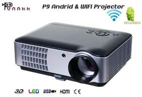 Punnkk P9A 2800 Lumens Android & Wifi LED Portable Projector with AV / HDMI / USB / VGA / ATV