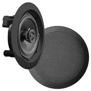 Pyle PDIC81RDBK, 8'' Ceiling Wall Mount Speakers - Pair of 2-Way Midbass Woofer