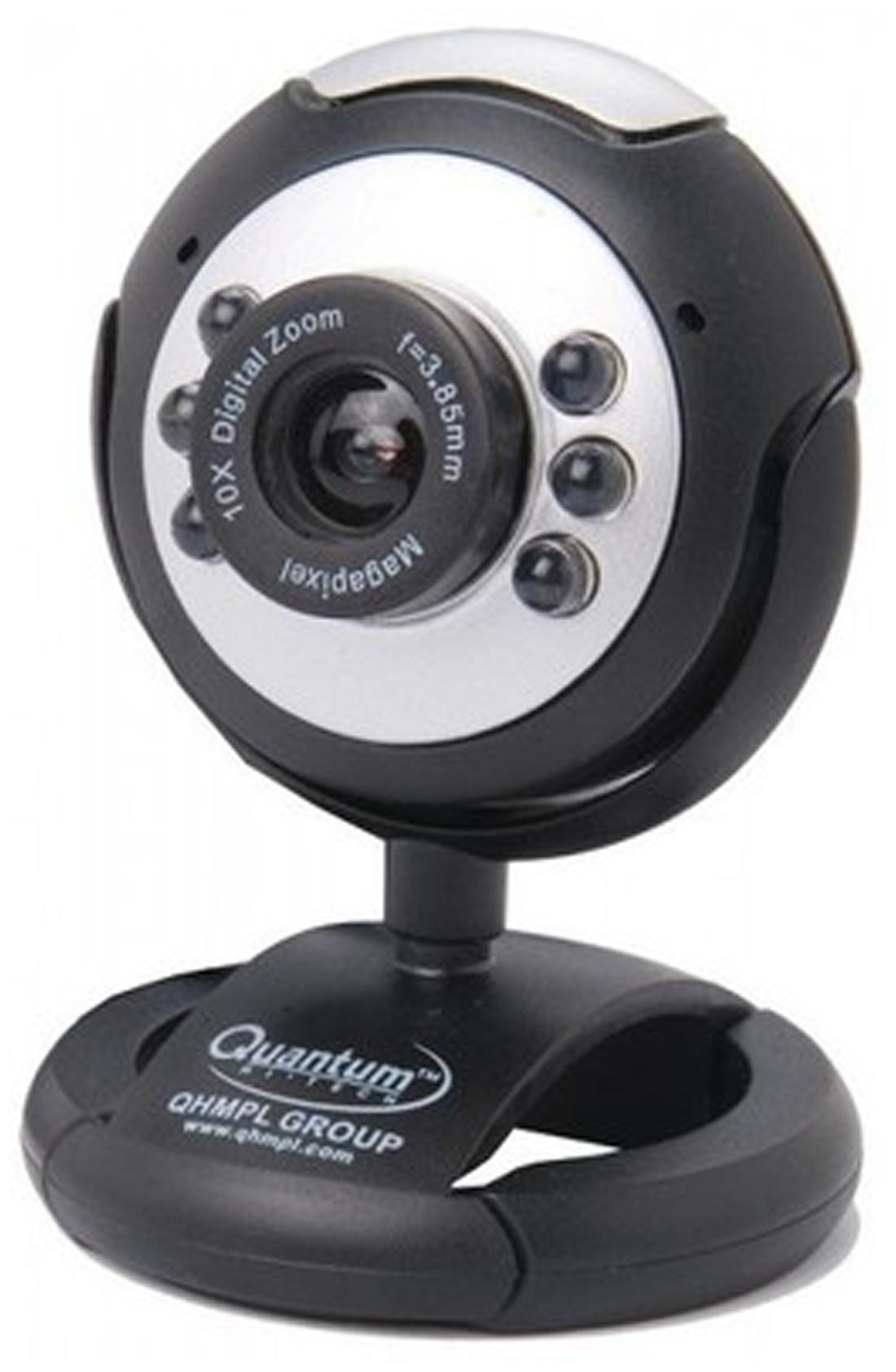 Quantum 495LM Web Cam (0.5 MP VSR/With MIC) (Black)