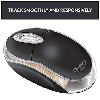 Quantum QHM222 Wired Mouse ( Black )