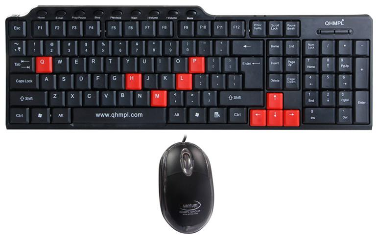 Quantum QHM8810 Multimedia Keyboard And Mouse Combo  Black