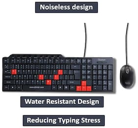 Quantum Qhm8810 Wired Keyboard & Mouse Set ( Black )