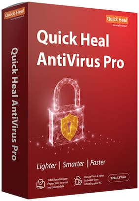 Quick Heal Anti Virus Pro ( 2 PC , 3 yr )