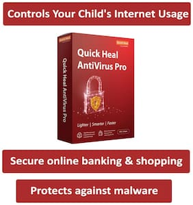 Quick Heal Anti Virus Pro ( 1 PC , 3 yr ) Security Softwares