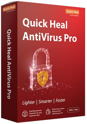 Quick Heal Anti Virus Pro ( 2 PC , 1 yr ) Security Softwares