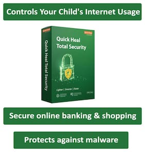 Quick Heal Total Security ( 10 PC , 3 yr ) Security Softwares