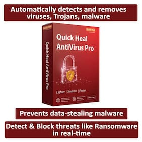 Quick Heal Anti Virus Pro ( 2 PC , 1 yr )
