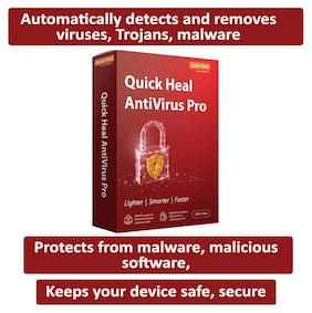 Quick Heal Anti Virus Pro ( 1 PC , 1 yr )