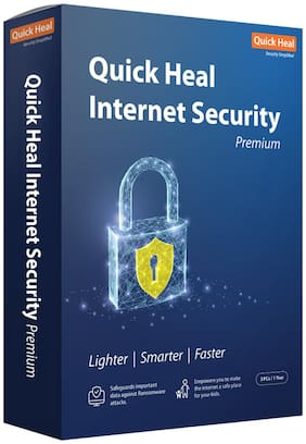 Quick Heal Internet Security ( 3 PC , 1 yr ) Security Softwares