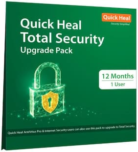 Quick Heal Total Security (1 User,1 Year) Upgrade Pack