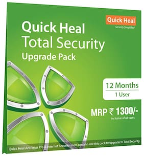 Quick Heal Total Security Renewal Upgrade Silver Pack(1 User,1 Year)(existing Quick Heal subscription required)