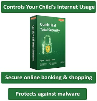 Quick Heal Total Security ( 3 PC , 3 yr ) Security Softwares