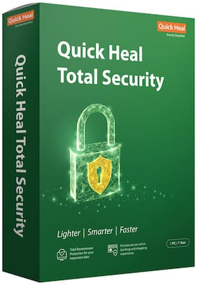 Quick Heal Total Security ( 1 PC , 1 yr ) Security Softwares