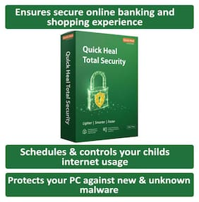 Quick Heal Total Security ( 3 PC , 1 yr )