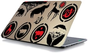 RADANYA African Animal Print Laptop Skin Vinyl Laptop Decal 15.6