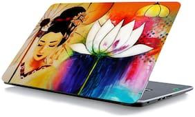 RADANYA Flower Face Laptop Skin Vinyl Laptop Decal 15.6